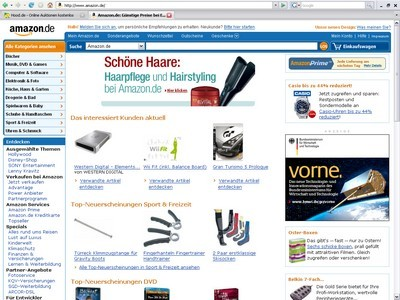 amazon neues design - screenshot