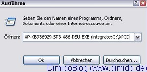 Service Pack 3 in Windows XP System-CD integrieren - Bild 2