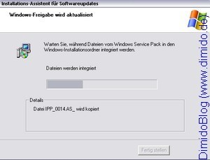 Service Pack 3 in Windows XP System-CD integrieren - Bild 4