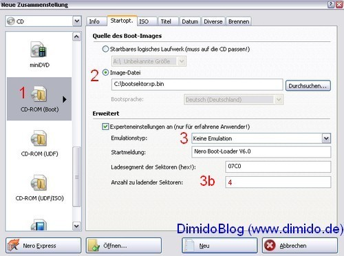 Service Pack 3 in Windows XP System-CD integrieren - Bild 6