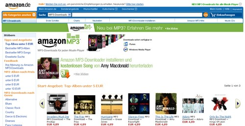 Amazon MP3 Downloads - Screenshot