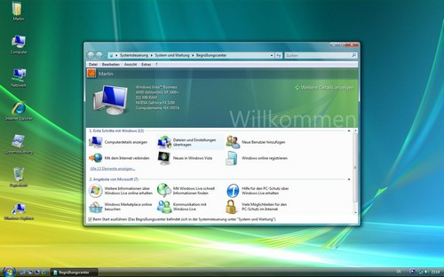 Screenshot vom Windows Vista Desktop