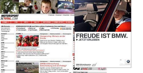 Screenshot vom BMW-Werbung auf Motorsport-Total