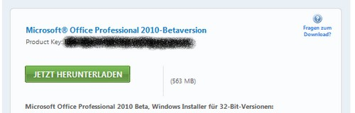 Screenshot vom Download