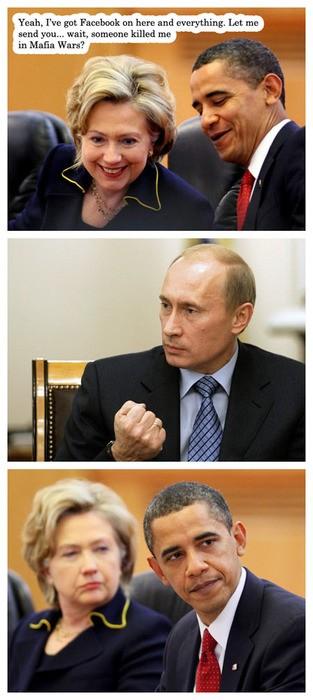 Mafia Wars auf Facebook mit Putin und Obama