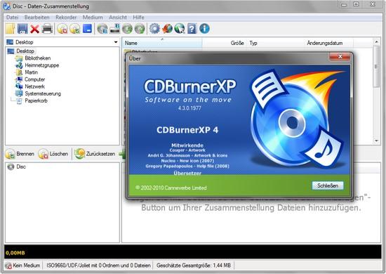 CDBurnerXP ist ein kostenloses Programm zum Brennen von CDs und DVDs