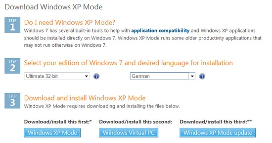 Screenshot vom Download des XP-Modus