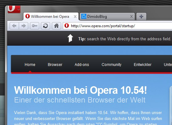 Opera Desktop Browser