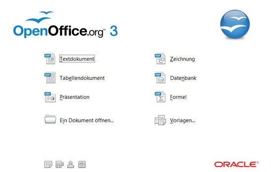 Start-Windows von OpenOffice.org 3.2.1