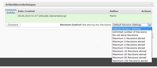 Artikelüberarbeitung mit Revision Control