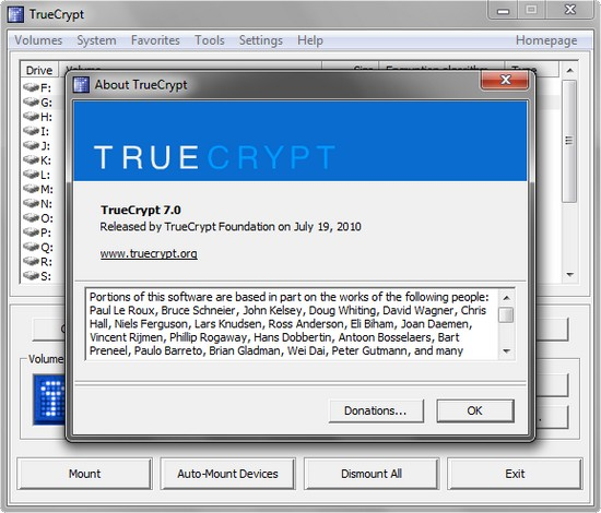 TrueCrypt 7.0 – Open Source Verschlüsselungs-Software