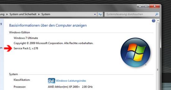 Systemkennung unter Windows 7
