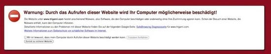 Erste Hilfe für Trigami-Blogger wegen Malware