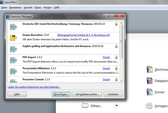 LibreOffice oder OpenOffice.org
