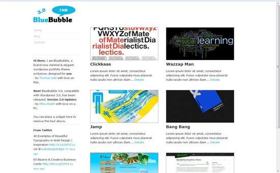 WordPress Themes, Templates -BlueBubble