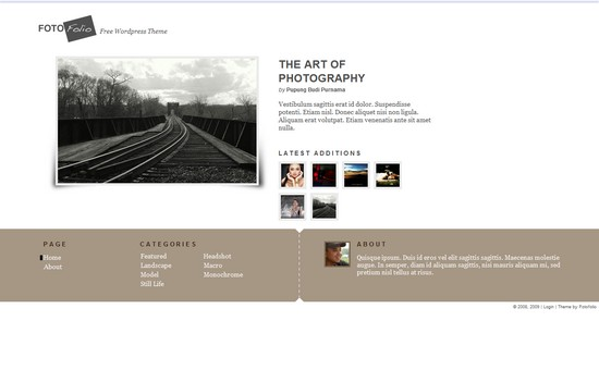 WordPress Themes, Templates - FotoFolio Foto Folio