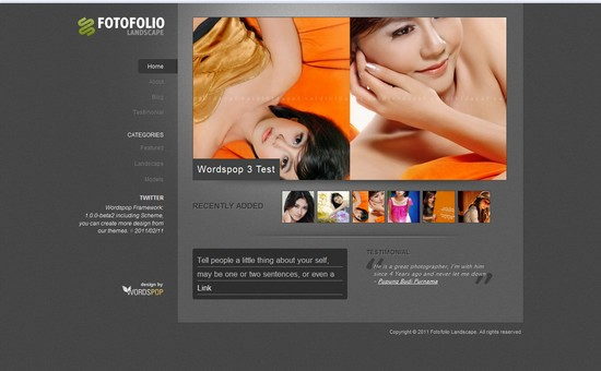 WordPress Themes, Templates - FotoFolio Landscape