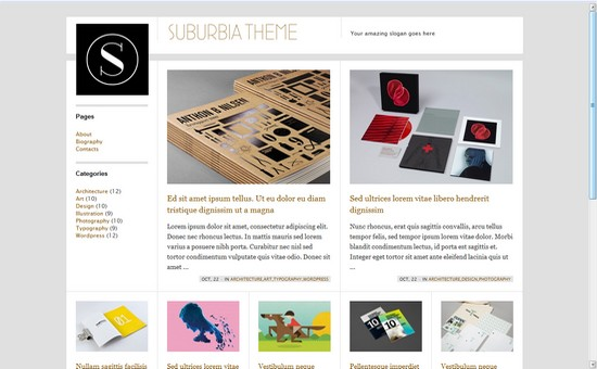 WordPress Themes, Templates - Suburbia