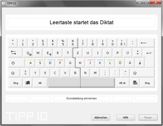 Kostenloser 10-Finger-Schreibtrainer, -Tipptrainer in neuer Version