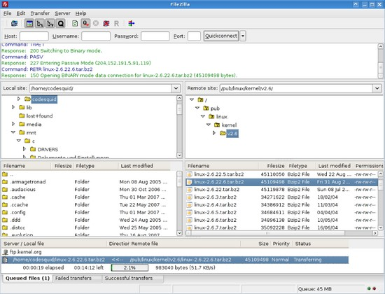 FileZilla 3.5.0 – Open Source FTP-Client und -Programm