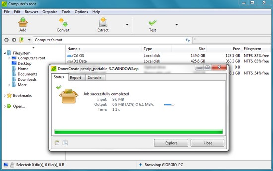 PeaZip 3.7 – Zip- und Archivprogramm mit allen gängigen Formaten