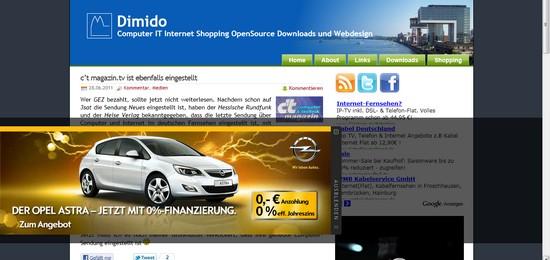 Bin tief gefallen: Mache Werbung für Opel