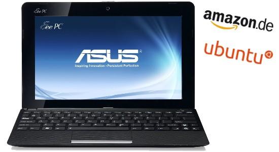 Amazon: Erster Asus Eee PC, Netbook, mit Ubuntu aufgetaucht