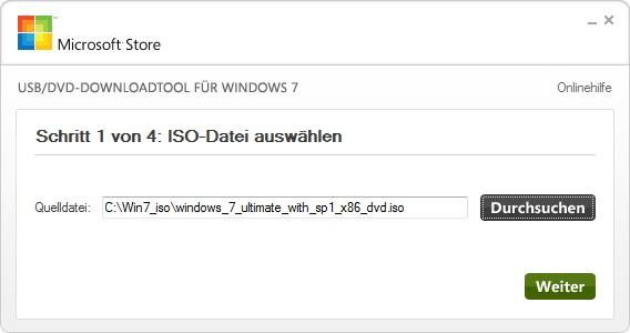 Windows 7 vom USB-Stick installieren, Anleitungn