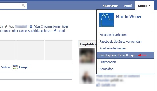 Facebook: Aktive Gesichtserkennung abschalten, deaktivieren