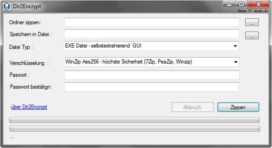 Dir2Encrypt - Dateien und Ordner verschlüsseln