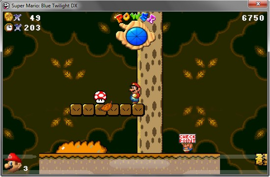 Super Mario Blue Twilight DX - Super Mario auf PC spielen