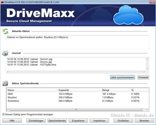 DriveMaxx ausprobiert, Daten der Clouds verschlüsseln und segmentieren
