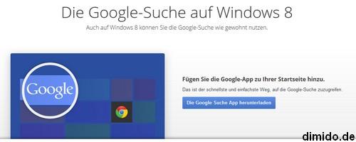 Google unter Windows 8 nutzen
