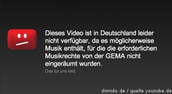 YouTube: Dieses Video ist in Deutschland nicht verfügbar