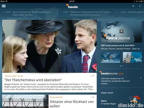 ZDF HEUTE-Nachrichten-App
