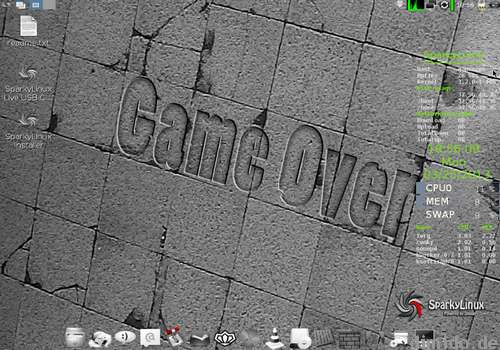 Linux-System für Gamer: SparkyLinux GameOver