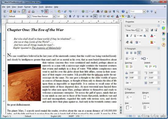 OpenOffice 4.0 mit neuer sidepanel UI