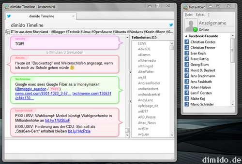 Instantbird - Open Source Instant Messenger auf Basis von Mozilla-Code