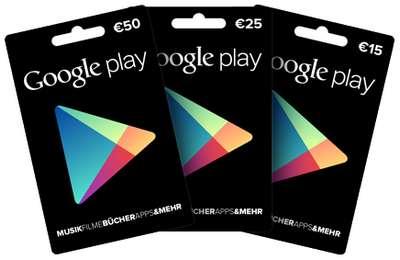 Guthabenkarten - Google Play Store