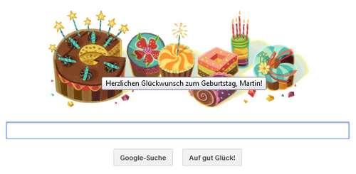 Google Doodle zum Geburtstag