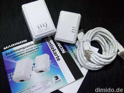 PowerLAN: Maginon Powerline Adapter-Kit – PL-500 und PL-500W mit WLAN