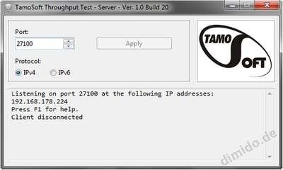 Throughput Test – Netzwerk-Speedtest Werkzeug