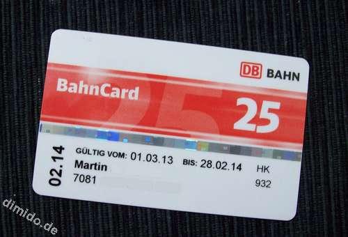 Bahncard kündigen durch Online-Fomular