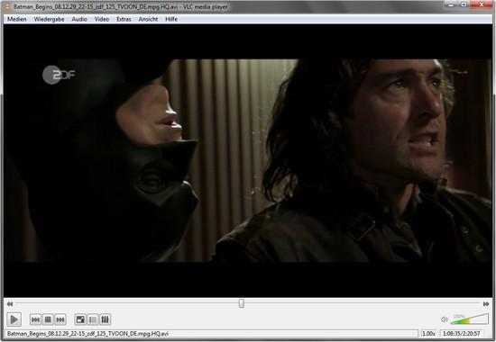 Film ansehen mit VideoLan VLC Media Player